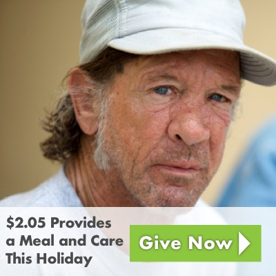 two dollars and five cents provides a meal and care this holiday